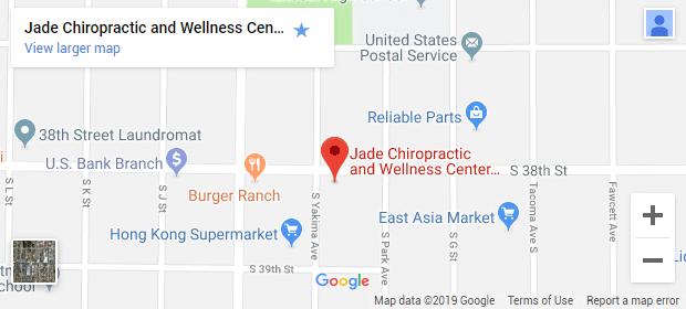 Tacoma WA Chiropractic Map